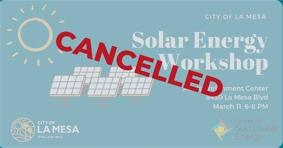 Cancelled Workshop
