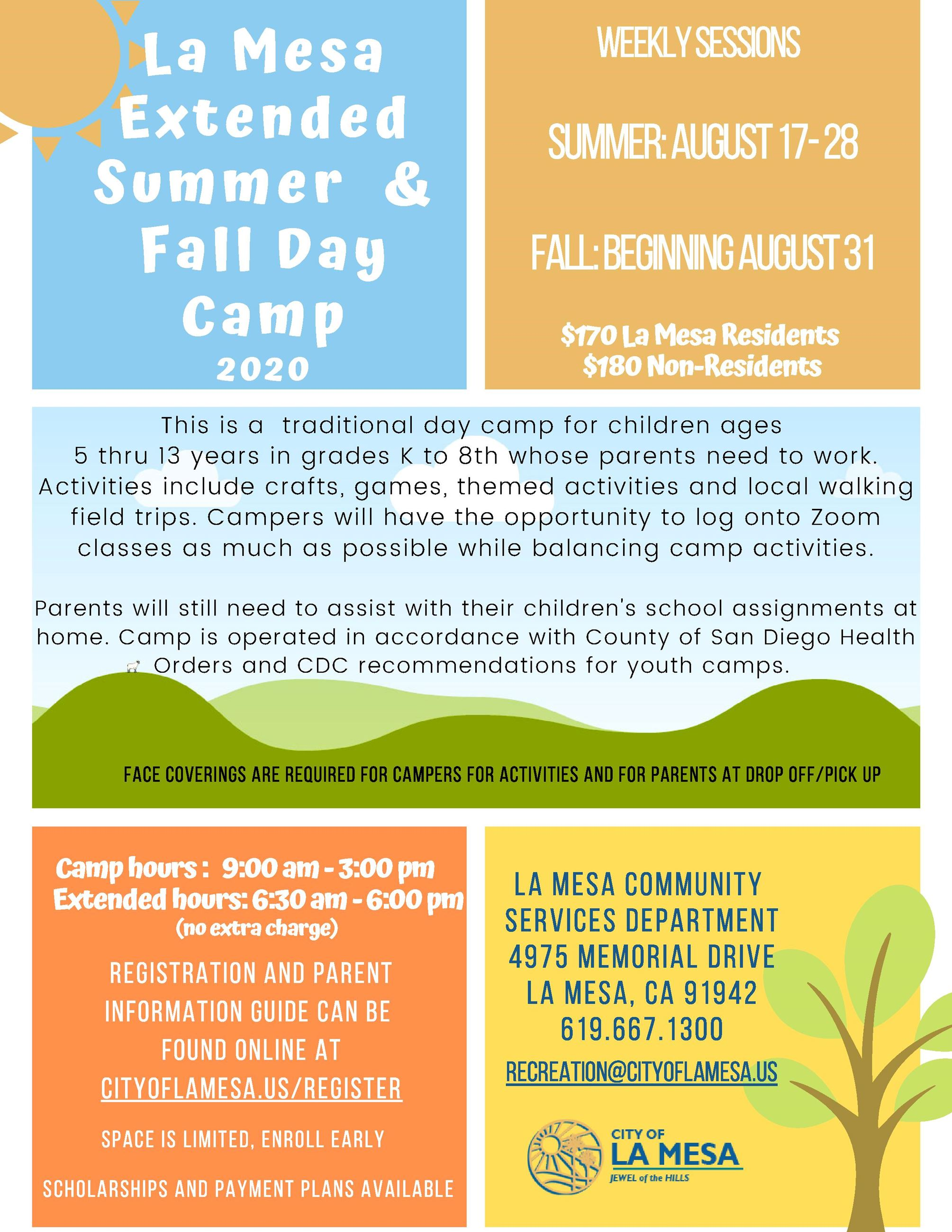 Summer extended and fall day Camp 2020  (2)