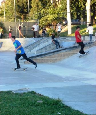The La Mesa Skate Park in La Mesita Park, located at 8855 Dallas Street,